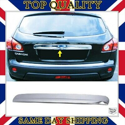 Chrome Rear Trunk Tailgate Cover S.STEEL to fits Nissan J10 Qashqai 2006-2013