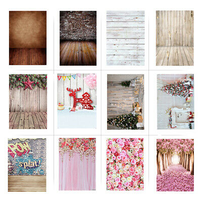 Photography Backdrop Flower / Wooden / Brick Wall Floor Photo Background W3F0