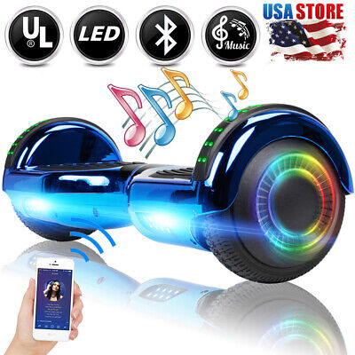 6.5'' Bluetooth Hoverboard LED Electric Self Balancing Scooter UL2272 Blue Bag