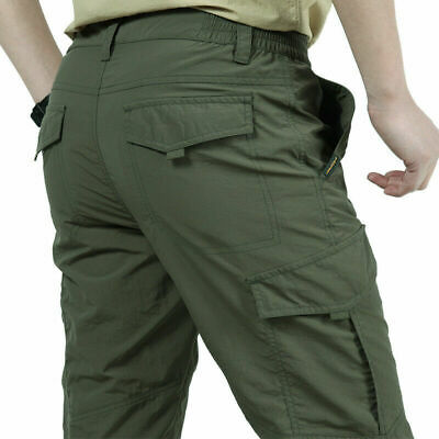 Tactical Men's Work Cargo Pants Climbing Tactical Hiking Quick Dry Multi-Pockets