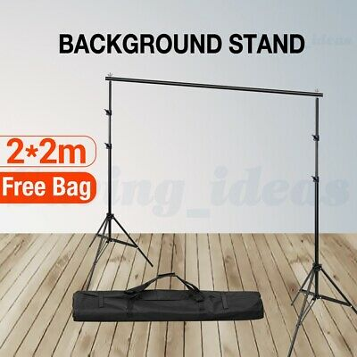 2 x 2M Heavy Duty Photo Background Backdrop Support Stand Kit Photography Video
