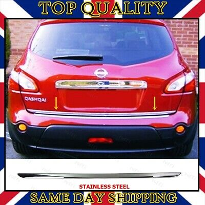 Chrome Rear Trunk Tailgate Under Trim to fits Nissan Qashqai / +2 2006-2013