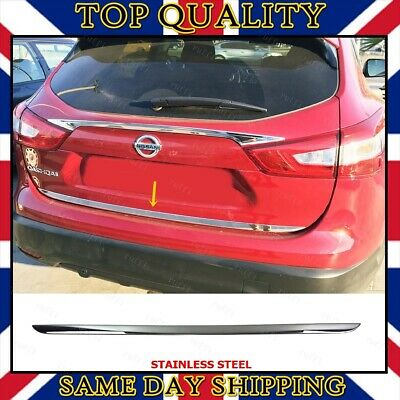 Chrome Rear Trunk Tailgate Under Trim to fits Nissan Qashqai J11 2013 onwards