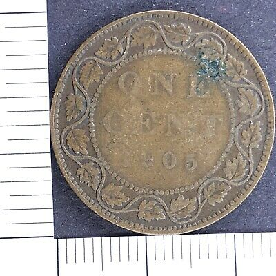 Canada 1 One Cent 1905 Edward Foreign Coin