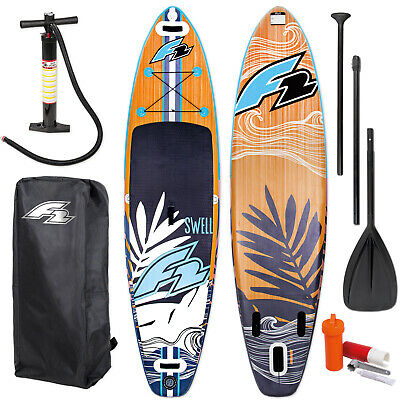 F2 Strato 115 SUP Board Stand Up Paddle Surf-Board ISUP mit 3-teiliges Alu Paddel 350x83cm