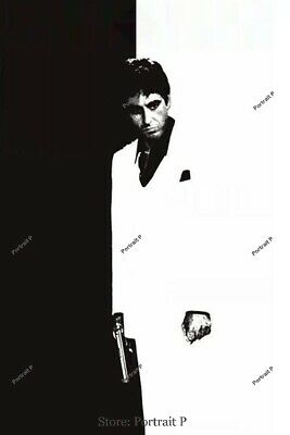 Scarface Oil Painting Tony Montana Al Pacino Hand-Painted Canvas Not Print 24x36