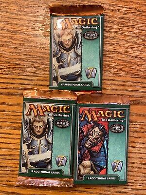 Seventh Magic Mtg 7th edition Factory sealed Booster Pack X 3 !