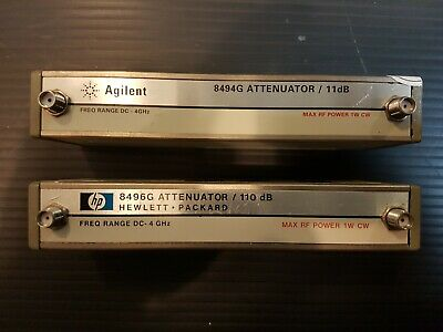 Agilent HP 8494G + 8496G Step Attenuators, DC to 4GHz, 0 to 121dB, 1dB step