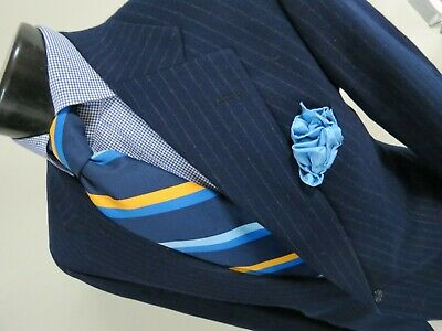 Polo University Club Woven in The British Isles Chalk stripe suit 42 R