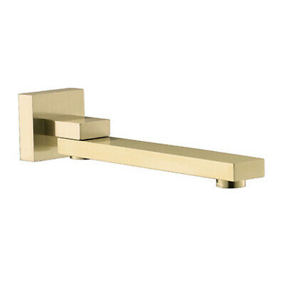 Bathroom Brushed gold  Wall Mount Spout Tub Shower System