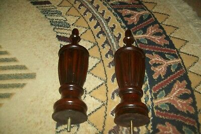 "Tall wood finial Vintage carved  architectural Furniture 16"" Tall 4"" Wide"