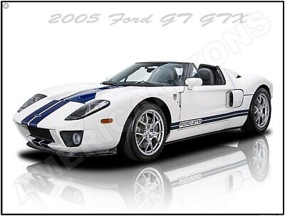 2005 Ford GT GTX 1 New Metal Sign: Fully Restored