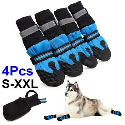 4pcs Pet Dog Anti-slip Shoes Boots Paw Protector Booties Large Safe Walking