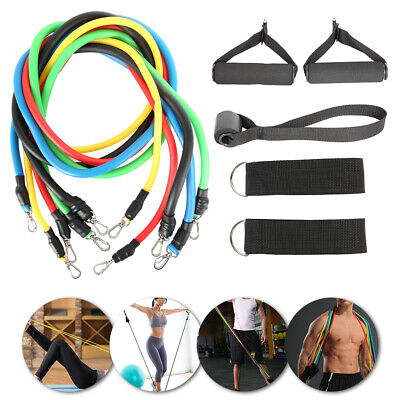 Resistance Exercise Bands Pull Rope Tube Fitness Elastic Stretch Yoga Gym Cord
