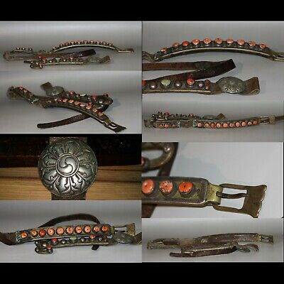 @ Wonderful 19th Century Old Antique Tibet Noble Ornaments Coral Waistband Set @