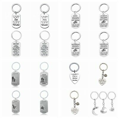 Personalised Gifts Send Her Him Mum Auntie Sister Brother Dad Son Keyring Gift
