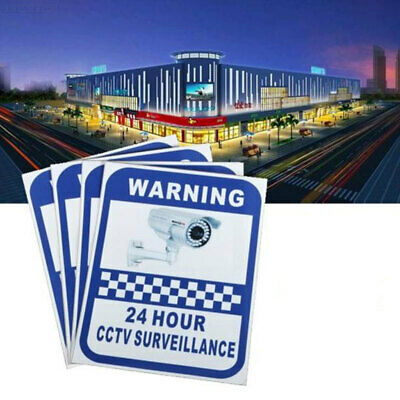 4C76 Sticker Pack Small Stickers Surveillance Warning Decal CCTV Security