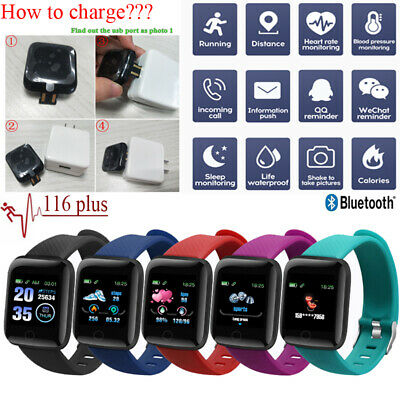 116Plus Bluetooth Smart Watch Heart Rate Fitness Tracker Bracelet fr Android IOS