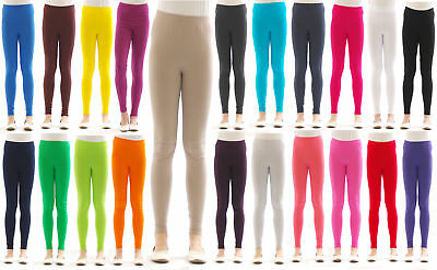 Children Girls Leggings Long Trousers Pants from Cotton Opaque Skin-Tight