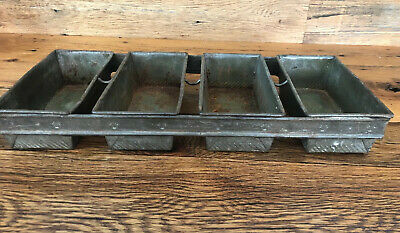 """Ekco Fo D Welded Commercial 4 Loaf Bread Pan Size 24"""" By 10.5"""" By 3.5"""" Vintage"""