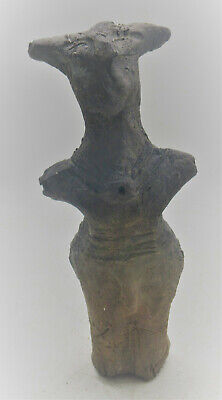 Extremely Rare Prehistoric Neolithic Vinca Figurine Alien-Form 4000Bce