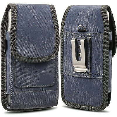 Heavy Duty Vertical Pouch Case Holster Carrying Belt Clip Large Phone Samsung