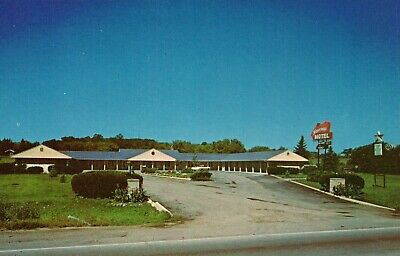 Rosecrans Motel Street View Old Car Zion Illinois Hotel Postcard