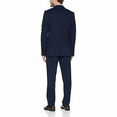 STACY ADAMS Men's Single Breasted Real Flex Stretch Fabric Suit, Navy, 42 NWT