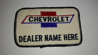 Vintage RARE CHEVROLET DEALER NAME HERE Patch CHEVY