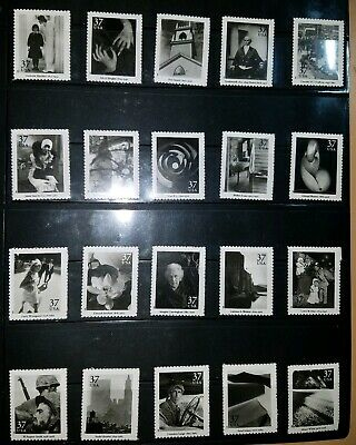 Scott's 3649 a-t, Masters Of American Photography,Complete Set of 20, MNH.
