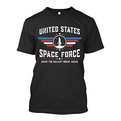 United States Space Force New Men Shirt Make The Galaxy Great Again Donald Trump