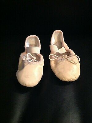 Girl's Bloch dance ballet slipper flats shoes blush/nude leather size 7.5