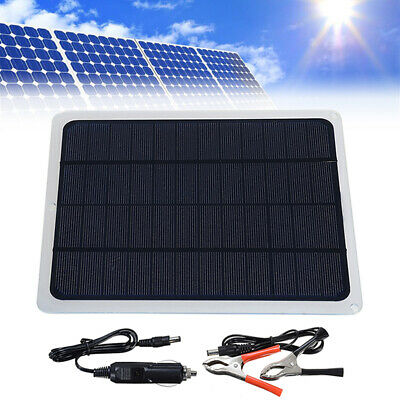 Solar Panel Trickle Battery Charger Power Supply Car Boat Yacht Outdoor 12V 20W