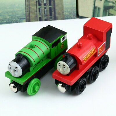 The Train  Engine Wooden Child Toy 3 pairs of wheels #