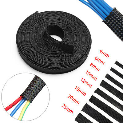 Black Expandable Tight Gland Braid Sleeving Wire Insulation Protection Cable