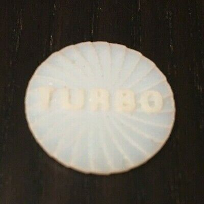Replacement Substitue Turbo Token For Crash Canyon Board Game Parts White HQ