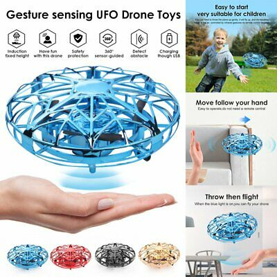 Mini Drone Infrared Aircraft Levitation UFO Flying Helicopter RC Drone Kids Toys