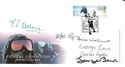 Mount Everest Signed FDC Hillary Lowe Wylie Westmacott Band & Gregory
