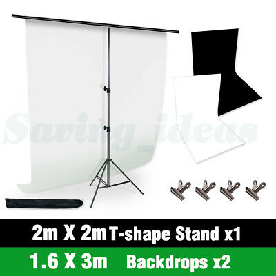 NEW-Studio T-Type Backdrop Stand Heavy-Duty Video Photo Background Support+CASE
