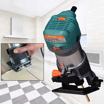 850W Compact Electric Router edge Trimmer Kit Variable Speed Woodworking Joiners