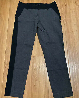 NEW Mossimo Women Stretch Extensible Pants Size 2 Dark Gray Black