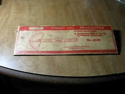 Vintage Craftmans #4029 Protractor, Stainless Steel Machinist Tool