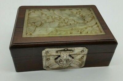 Antique Chinese Jade Jewellery Trinket Handmade Box Early 20th Century MUST SEE