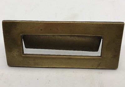 Antique Victorian Brass Letter Box 178 x 77mm High Quality