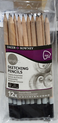 Daler Rowney Simply 12 Sketching Pencils Assorted New Open Package Free Shipping