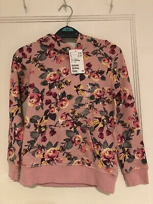 Brand New With Tags!! H&M Girls Pink Floral Hoodie. Age 6-8. RRP £9.99