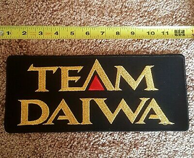Team Daiwa Fishing Rods Reels Lures Line /& Tackle Embroidered Patch XL Black