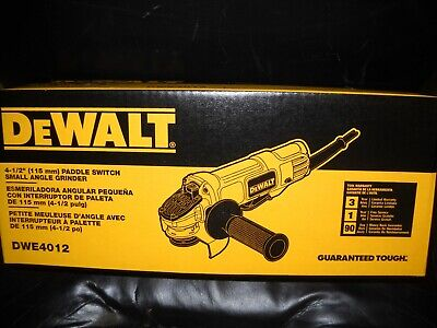 """DEWALT DWE4012 7 Amp 4-1/2"""" Small Angle Grinder with Paddle Switch New"""