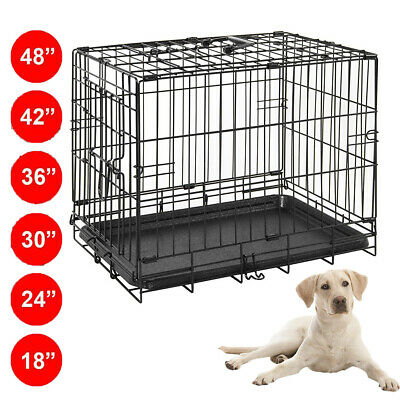 Dog Cage Puppy Training Crate Pet Carrier - Small Medium Large Xl Xxl Cage Metal