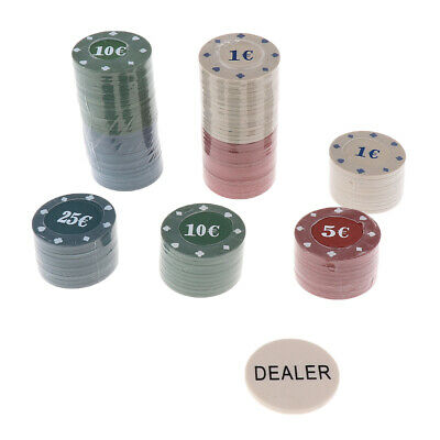 Poker Chips 150 x BROWN BUDGET 9g Solid Clay Diamond Roulette Checks NEW
